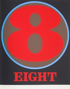robert indiana creely numbers serigraphs eight 8