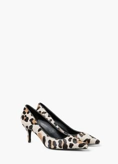 Leopard stiletto shoes