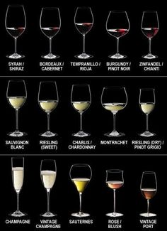 Different Wine Glasses And How To Pour