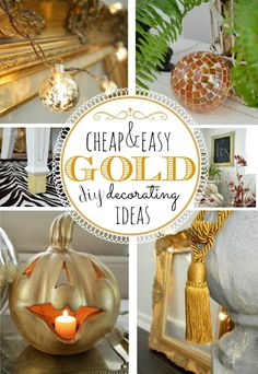 Great Gold Room Decor Budget Friendly Diy Ideas For Decorating With Gold Fox Hollow