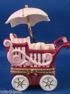 Baby Carriage with Baby Limoges Box.
