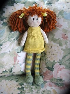 free debbie bliss pattern from ravelry - this is the cutest once made! And also her outfit comes off so you can make her different outfits!