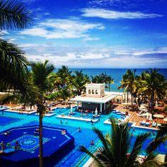 Beautiful day at the Riu Palace Pacifico, Puerto Vallarta Mexico.  #riupalacepacifico