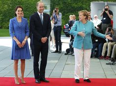 German Chancellor Angela Merkel offered William and Kate their official introduction to the country before scheduled visits to the Bradenburg Gate and the Holocaust Memorial, where they met with Holocaust survivors and toured the museum.  Sean Gallup/Getty Images