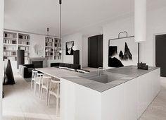 Esta opción de electrodomésticos integrados es especialmente importante si vamos a tener una cocina abierta al salón. #Cocina  #Diseños  Emmas