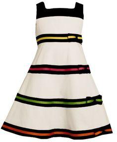 Bonnie Jean Toddler Girls Pique Dress with Multi Ribbon and Bow Trim Bonnie Jean, http://www.amazon.com/dp/B005UAFMM6/ref=cm_sw_r_pi_dp_nfGOpb0D474NZ