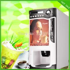 (820.00$)  Watch now  - free shipping commerical use 3 in 1 automatic coffee vending machine hot drink dispenser machine