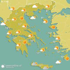Het is vandaag zonnig in Kos-Stad