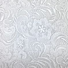 The sunflower inspired design of our Guipure French Venice Lace is 52/53'' inches wide and 100% polyester. This fabric is available in several colors and sold by the yard. This wonderful lace is perfe