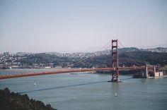 San Francisco's Golden Gate Bridge from the Marin Headlands