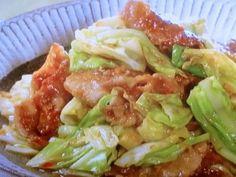 Cabbage Pork Miso Saute キャベツと豚肉のみそ炒め  2017年1月17日 [NHKきょうの料理ビギナーズ]