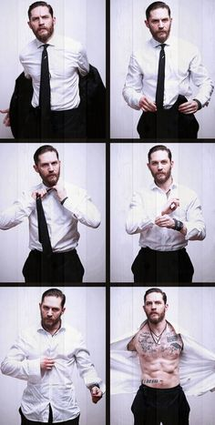 So jealous of the lady who gets this walking in after work, I mean damn Tom Hardy is sexy
