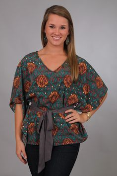 Talk of the Tribe Top $42  www.themintjulepboutique.com