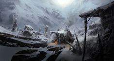 sci fi mountain fantasy concept village deviantart mountains imgur