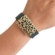 Charm to Accessorize the Fitbit Charge Charge HR and Other Fitness Trackers  The SCROLL Gold Filigree Charm to Dress Up Your Favorite Fitness Tracker Gold Fitbit ChargeCharge HR *** Want to know more, click on the image. (Note:Amazon affiliate link)