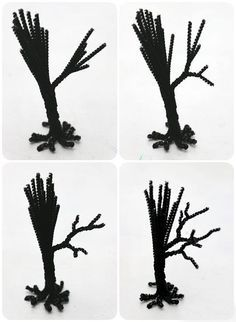 Spooky Pipe Cleaner Trees - Halloween Craft Tutorial                                                                                                                                                                                 More