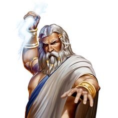 Zeus - regarded as the sender of thunder and lightning, rain, and winds, and his traditional weapon was the thunderbolt