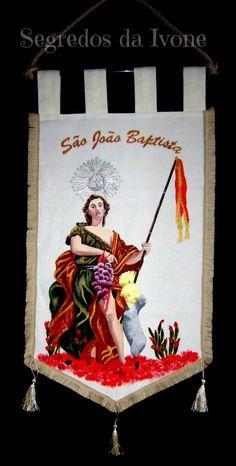 PL9- Pintura em estandarte de linho- São João Baptista