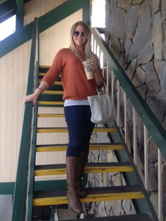 Cool Weather style (Nine West Boots, 7FAM Jeans, Goyard Tote) - www.TheDarlingNiki.com
