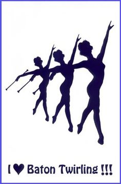 baton twirling...love, love, love to twirl.  I was on a Baton Corp called the Precisionettes, way back in the day!