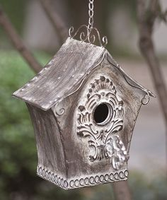 This Metal Key Birdhouse is perfect! #zulilyfinds