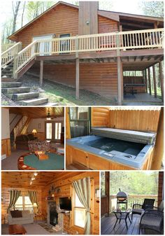 Guest Lodging For Hocking Hills Wedding Chapel Guests! Jackson Log Cabin.  Located On Site