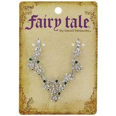 Fairy Tale by Bead Treasures Silver & Green Flower Pendant Connector | Shop Hobby Lobby
