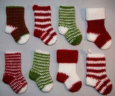 christmas+crochet+patterns+free+online | free crochet Christmas stocking pattern - so cute | Christmas & Winter