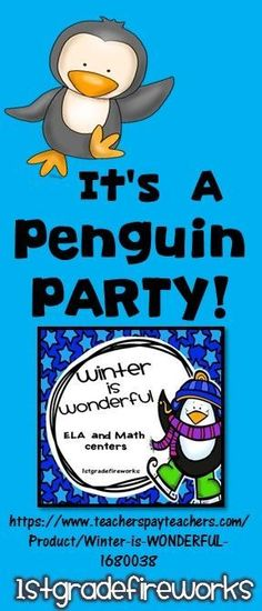 "ELA & Math Centers for Grade 1-2 ELA includes:  Contractions Present, Past, Future Verbs Nouns, Verbs, Adjectives Mixed-Up Sentences Writing Topic & Details MATH includes: Math Mountains Addition & Subtraction Making 10 Strategy Place Value Addition "" Ten"" Groups https://www.teacherspayteachers.com/Product/Winter-is-WONDERFUL-1680038"