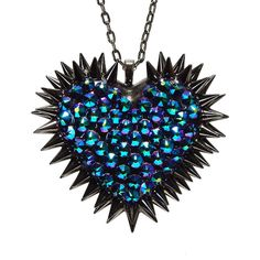 The classic Bunny Paige spiked heart necklace has gotten a sparkling makeover with over 60% more Swarovski Xirius Rose cut crystals for ultimate sparkle!
