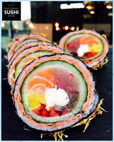 Sushi Roll Recipes, Sushi Love, Homemade Sushi, Sushi Art, Japanese Sushi, Sushi Rolls, Dessert, Korean Food, Asian Recipes