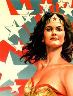 Wonder Woman - Linda Carter by Alex Ross Linda Carter, Comic Book Characters, Comic Book Heroes, Comic Books Art, Christopher Eccleston, Alex Ross Art, Doctor Who, Dc Comics, Blog Art