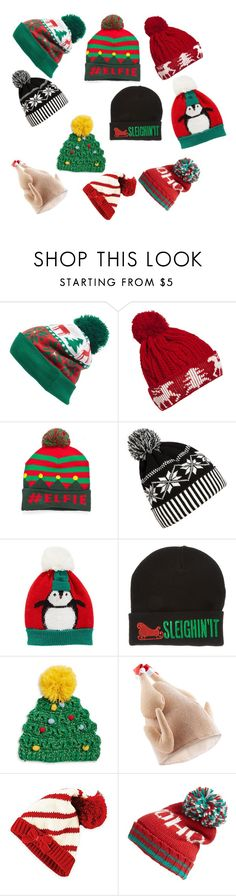 """""""Keep your noggin' warm this xmas"""" by isabellehuddleston-1 ❤ liked on Polyvore featuring Collection XIIX, WithChic, Wembley, COLLECTION 18, Accessorize and Steve Madden"""