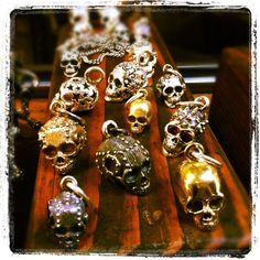 Edgy Skull Pendants by King Baby