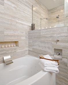 Dazzling emser tile in Bathroom Modern with Daltile Chenille White Limestone next to Vein Cut Travertine alongside Emser Tile and Silver Travertine