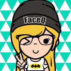That's me in carton Version on FaceQ Be Free
