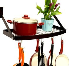 DecoBros Wall Mount Square Grid Pot Pan Rack includes 8 hooks, 25 by 12-inch Deco Brothers http://smile.amazon.com/dp/B00U86XNM8/ref=cm_sw_r_pi_dp_DrqSwb0MK3DSB