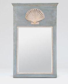 Blanche Tremau scallop shell accent mirror