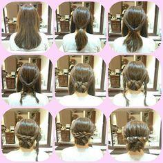 アッキーナ (ヘアスタイル)|ネイル画像数国内最大級のgirls pic(ガールズピック) Different Hairstyles, Hairspray, How To Make Hair, Bridal Hair, Hair Beauty, Hair Styles, Hair Tutorials, Different Braid Hairstyles, Hair Plait Styles