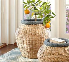 Beachcomber Large Round Blue Basket | Pottery Barn $51