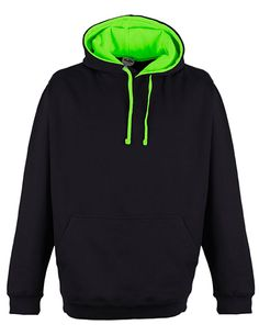 Superbright Hoodie - Jet Black/Electric Green
