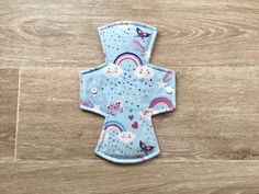 Heavy flow 10 inch reusable washable cloth menstrual pad / sanitary napkin / Rainbows and Butterflies Reusable Menstrual Pads, Mama Cloth, Sanitary Napkin, Cloth Pads, Fabric Softener, Key Fobs, Scarlet, Flow, Shell