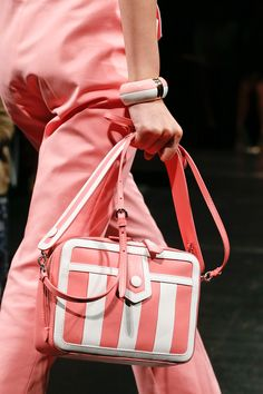 Candy stripes at Moschino Spring 2013 RTW