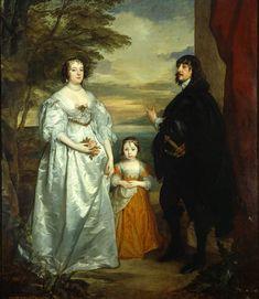James séptimo conde de Derby con su esposa y su hijo