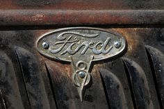 ford this might be a nice tat on the back of my leg Ford Classic Cars, Classic Trucks, Car Ford, Ford V8, Ford Bronco, Ford Mustang, Bicicletas Raleigh, Ford Emblem, Old Ford Trucks