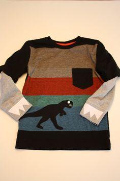 4a121119a95 Dinosaur shirt applique long sleeve shirt Dinosaur Shirt