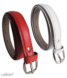 Belts Faux Leather Women's Belts Combo Material: Faux Leather   Size: 26 in 28 in 30 in 32 in 34 in  Description: It Has 2 Pieces Of Women's Belts Pattern : Solid Country of Origin: India Sizes Available: Free Size, 24, 28, 30, 32, 34 *Proof of Safe Delivery! Click to know on Safety Standards of Delivery Partners- https://ltl.sh/y_nZrAV3  Catalog Rating: ★3.9 (861)  Catalog Name: Stylish Faux Leather Women'S Belts Combo Vol 1 CatalogID_336346 C72-SC1081 Code: 981-2501971-