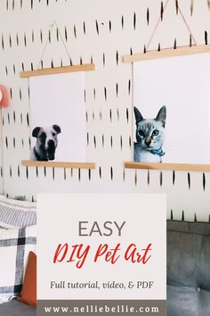 Create your own custom art featuring your favorite pooch! A great gift idea for your dog-loving friend. I have the full instructions for this DIY pet art including pintable's, video, and more! Follow along! #Homedecor #Petpictures #DIY Diy Ideas, Craft Ideas, Mini Canvas Art, Pet Art, Inspirational Wall Art, Cool Diy Projects, Diy Stuffed Animals, Diy Wall Art, Custom Art