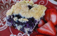 Blueberry Breakfast Cake, Weight Watchers, makes 16, 4 points plus
