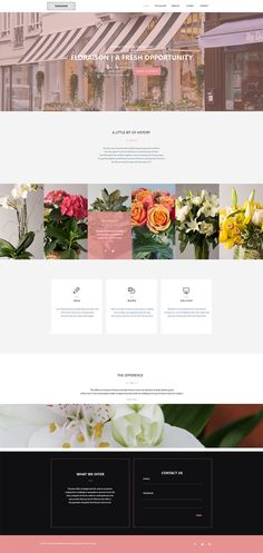 Florist Website Design + Branding | UI + UX | Creative Courtesy | courtesyagency.com
